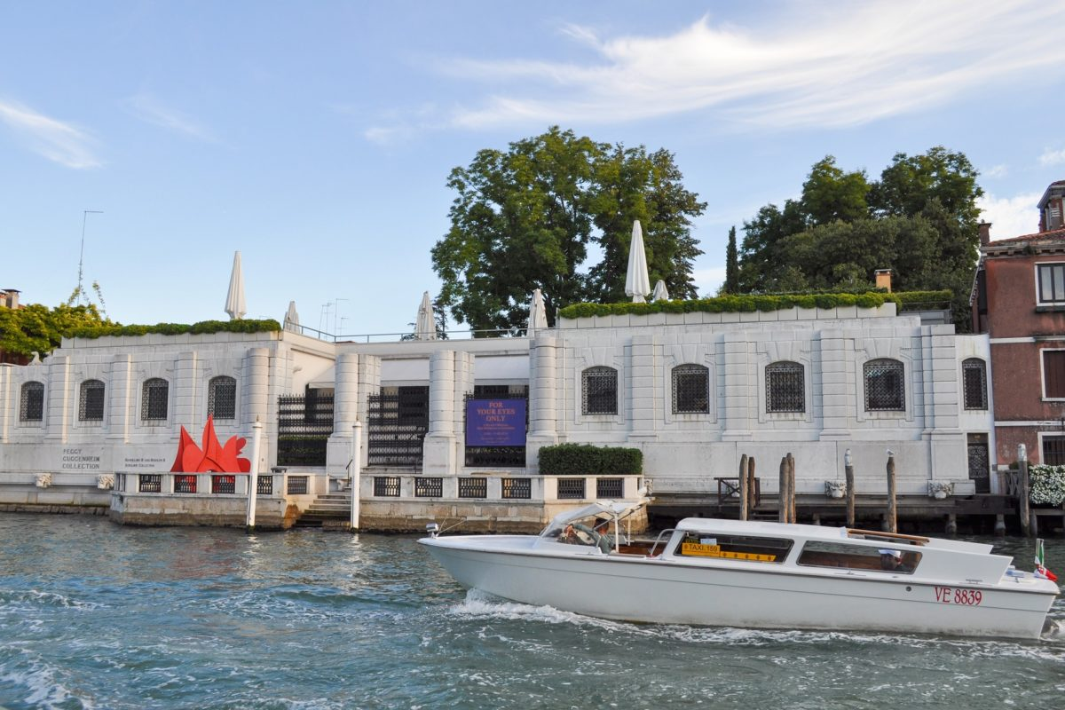 VENICE, ITALY - AUGUST 17, 2014: The Peggy Guggenheim collection in Venice Italy
